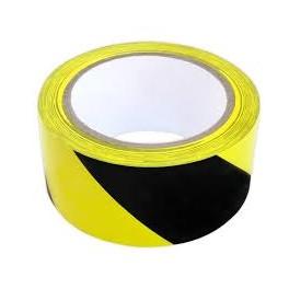 Taśma odgrodzeniowa żółto czarna 100m