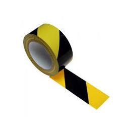 Taśma samoprzylepna podłogowa żółto czarna 33m