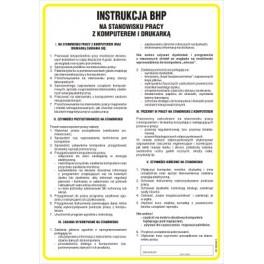 Instrukcja BHP NA STANOWISKU PRACY Z KOMPUTEREM I DRUKARKĄ